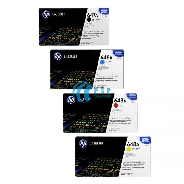 کارتریج تونر رنگی HP-647A-HP-648A